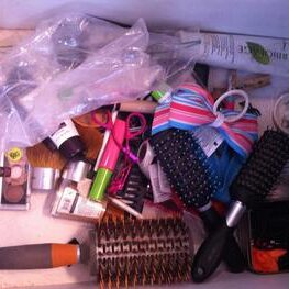 Vanity drawer before