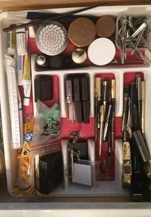 Makeup drawer after